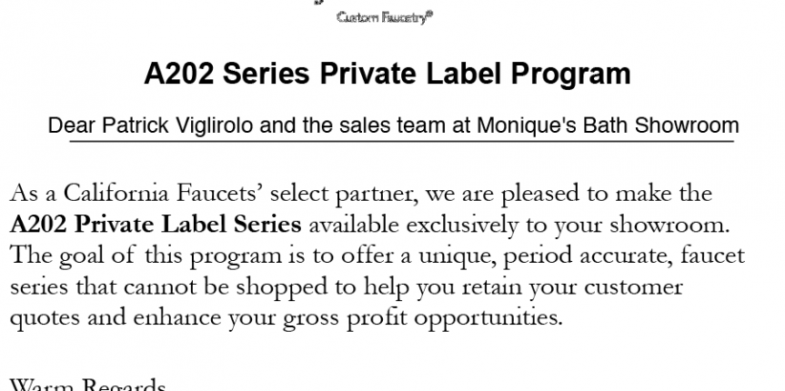 Monique's Private Label Series A202