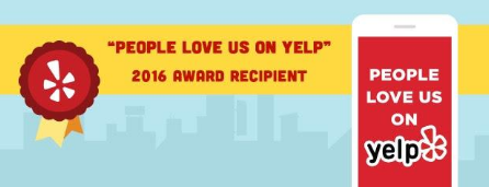 Monique's Bath Showroom wins Yelp award