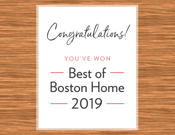 Monique's Bath Showroom wins Best of Boston Home 2019